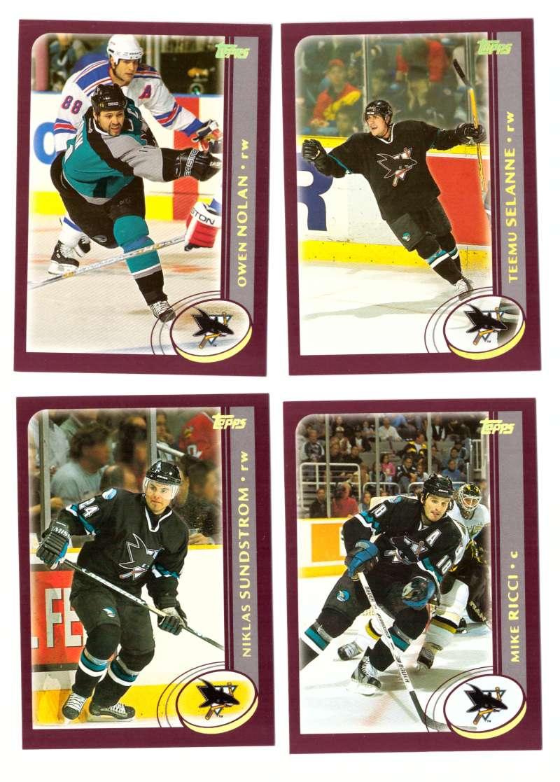2002-03 Topps Hockey Team Set - San Jose Sharks