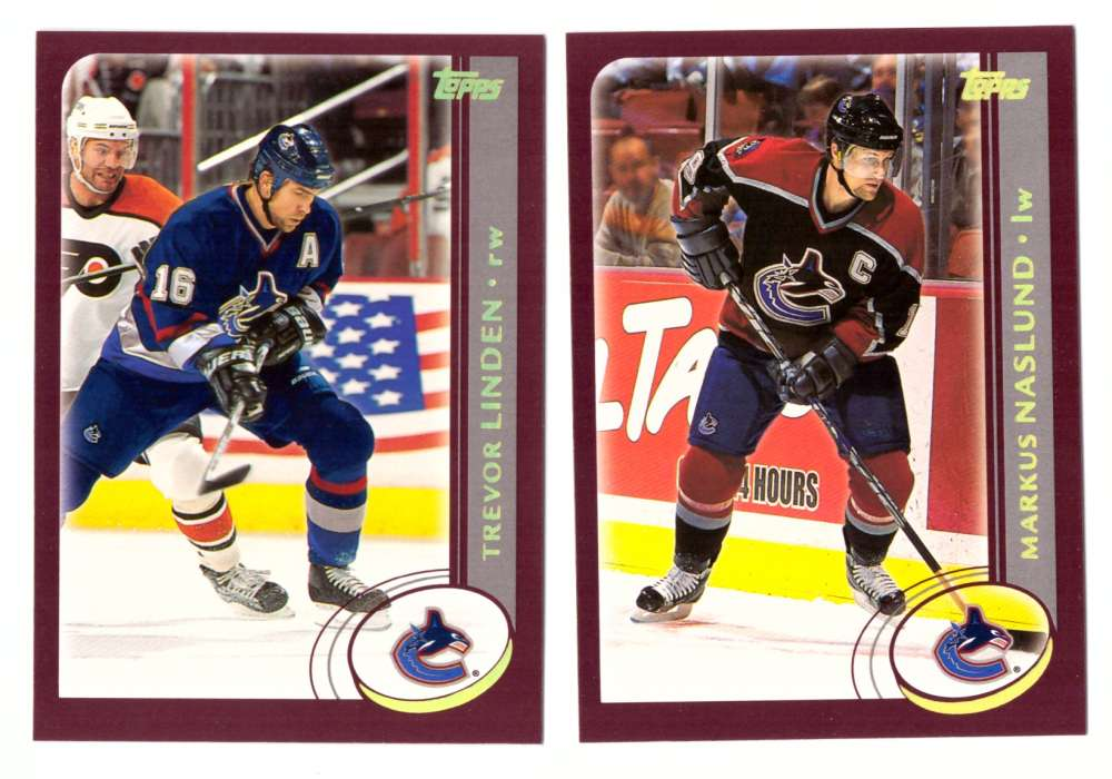 2002-03 Topps Hockey Team Set - Vancouver Canucks