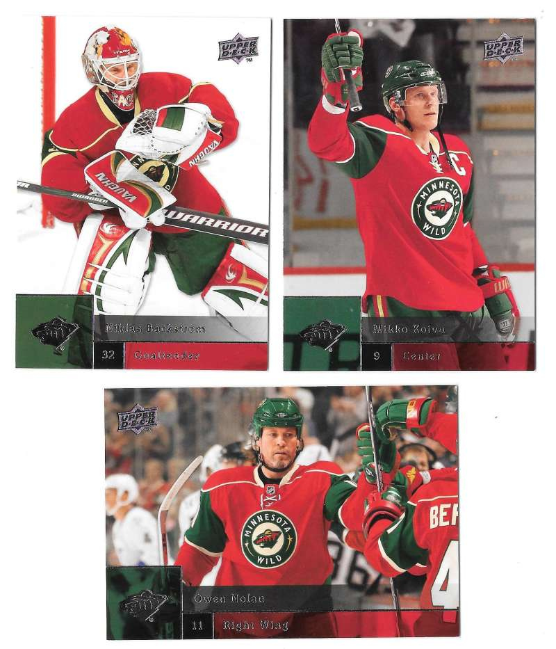 2009-10 Upper Deck (Base) Hockey Team Set - Minnesota Wild