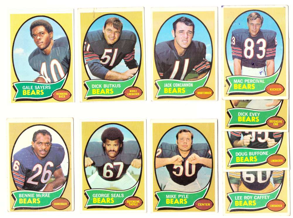 1970 Topps Football (VG Condition Read) Team Set - CHICAGO BEARS