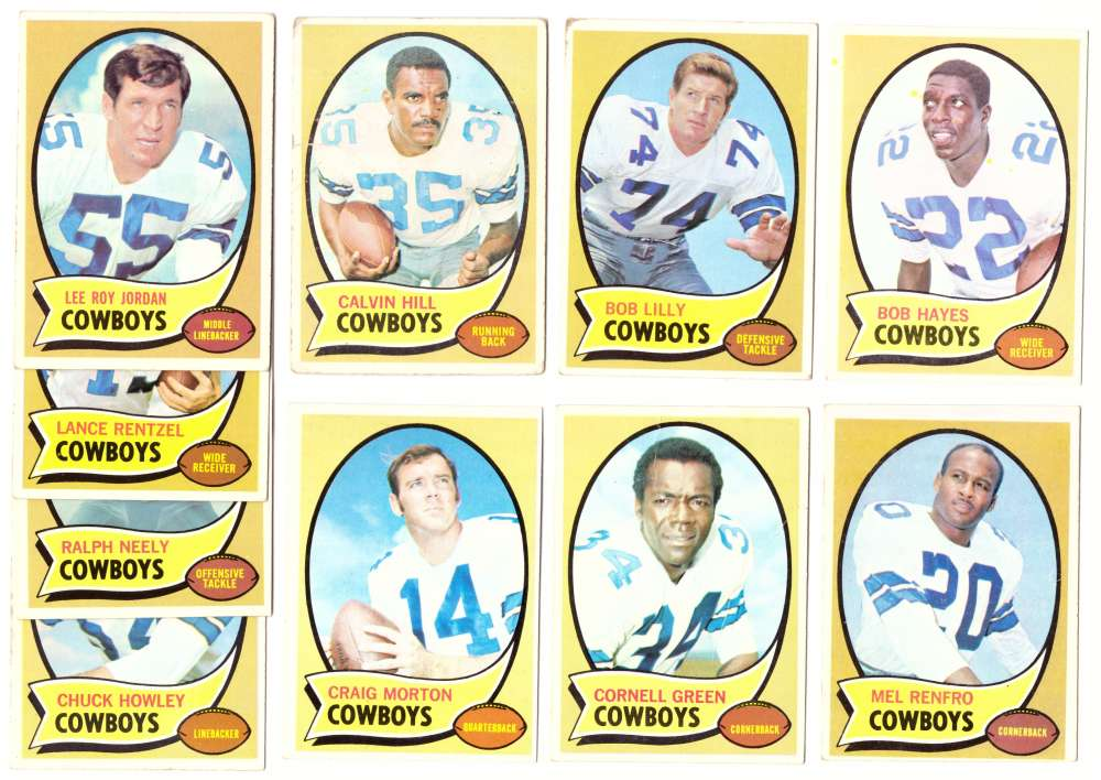 1970 Topps Football (VG Condition Read) Team Set - DALLAS COWBOYS