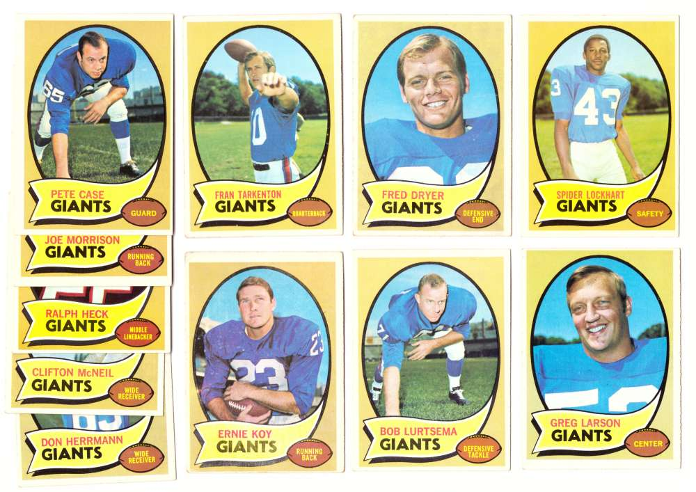1970 Topps Football (VG Condition Read) Team Set - NEW YORK GIANTS