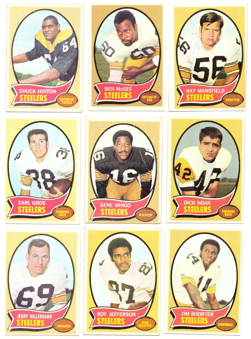 1970 Topps Football (VG Condition Read) Team Set - PITTSBURGH STEELERS
