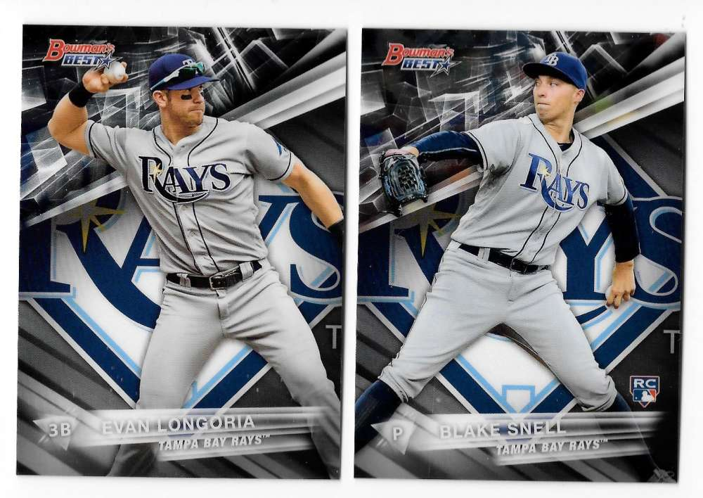 2016 Bowman's Best Refractors - TAMPA BAY RAYS