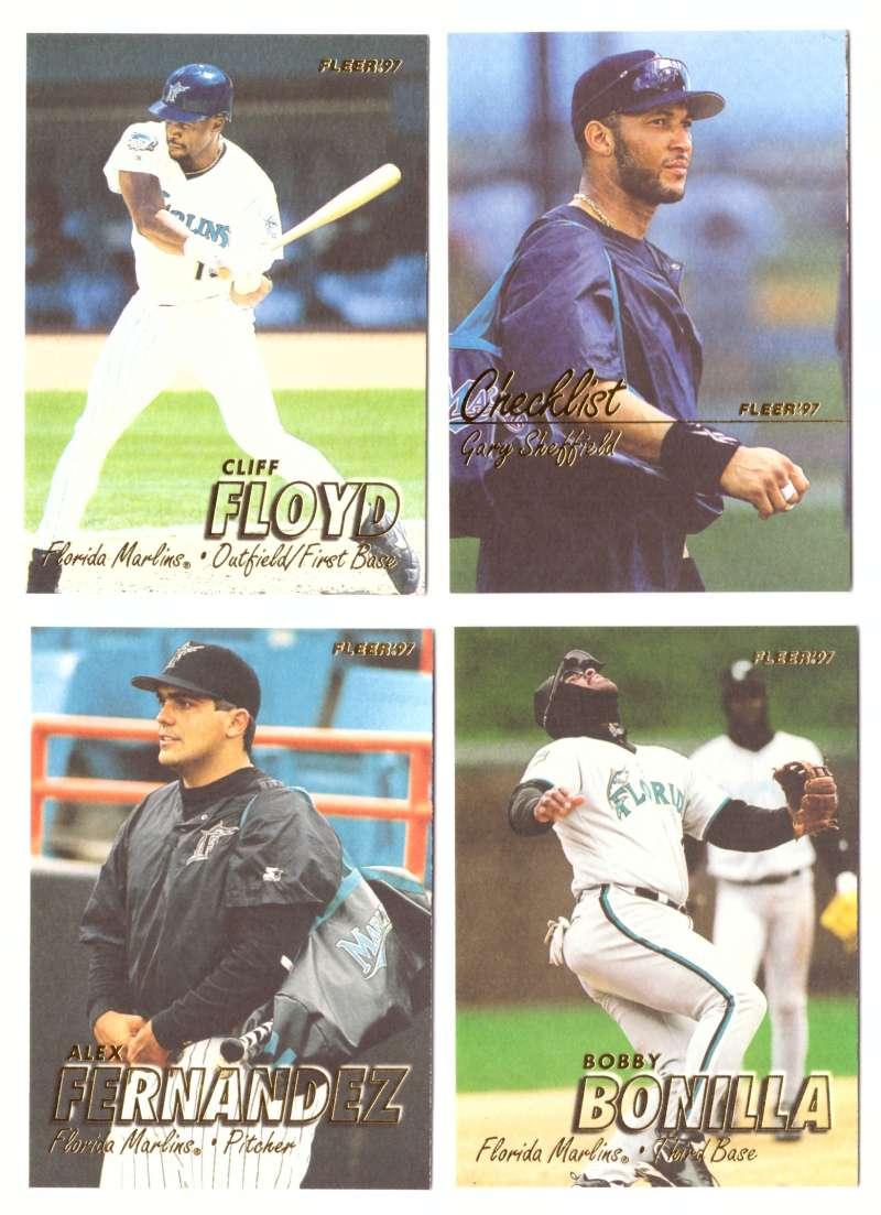 1997 Fleer Update (501-761) - FLORIDA MARLINS Team Set