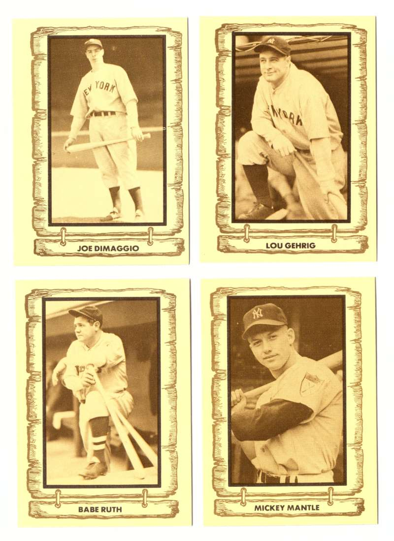 1980 Cramer Baseball Legends - NEW YORK YANKEES Team Set