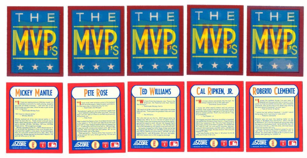 1990 Score - 56 card Magic Motion Trivia set