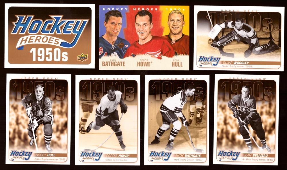 2011-12 Upper Deck Hockey Heroes 1950's 14 card set