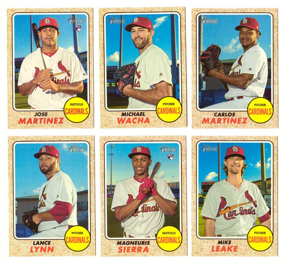 2017 Topps Heritage High Hi Numbers (501-725) - ST LOUIS CARDINALS