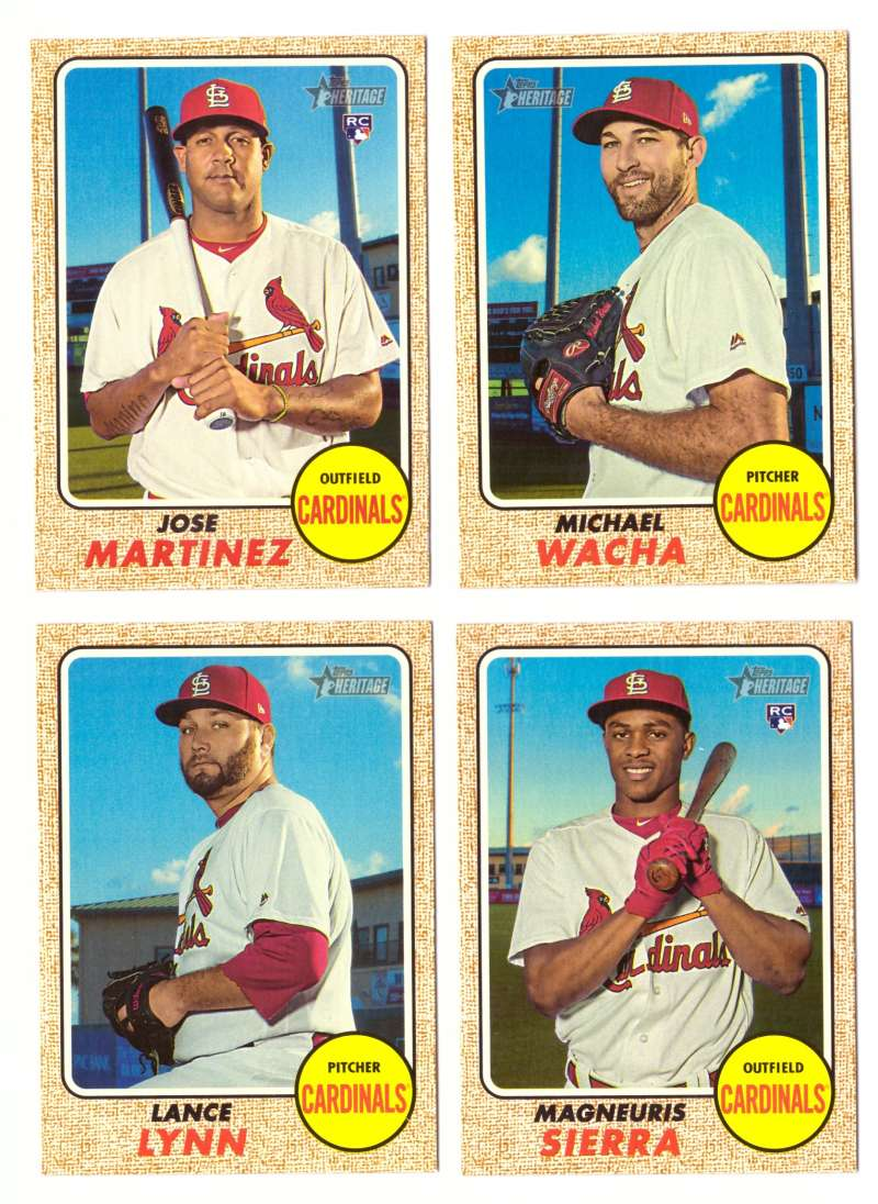 2017 Topps Heritage High Hi Numbers (501-700) - ST LOUIS CARDINALS