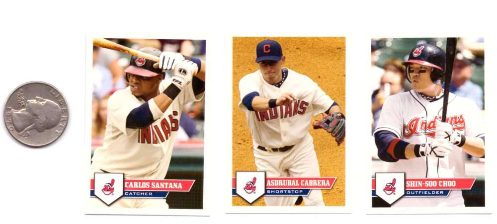 2011 Topps Stickers - CLEVELAND INDIANS Team Set