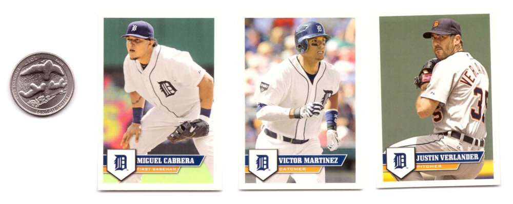 2011 Topps Stickers - DETROIT TIGERS Team Set