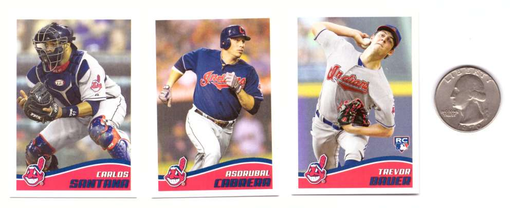 2013 Topps Stickers - CLEVELAND INDIANS Team Set