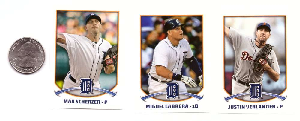 2015 Topps Stickers - DETROIT TIGERS Team Set