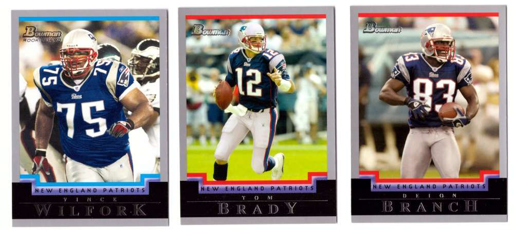2004 Bowman Football Team Set - NEW ENGLAND PATRIOTS