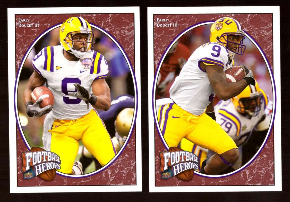 2008 Upper Deck Heroes Early Doucet RC 141-142 LSU Tigers