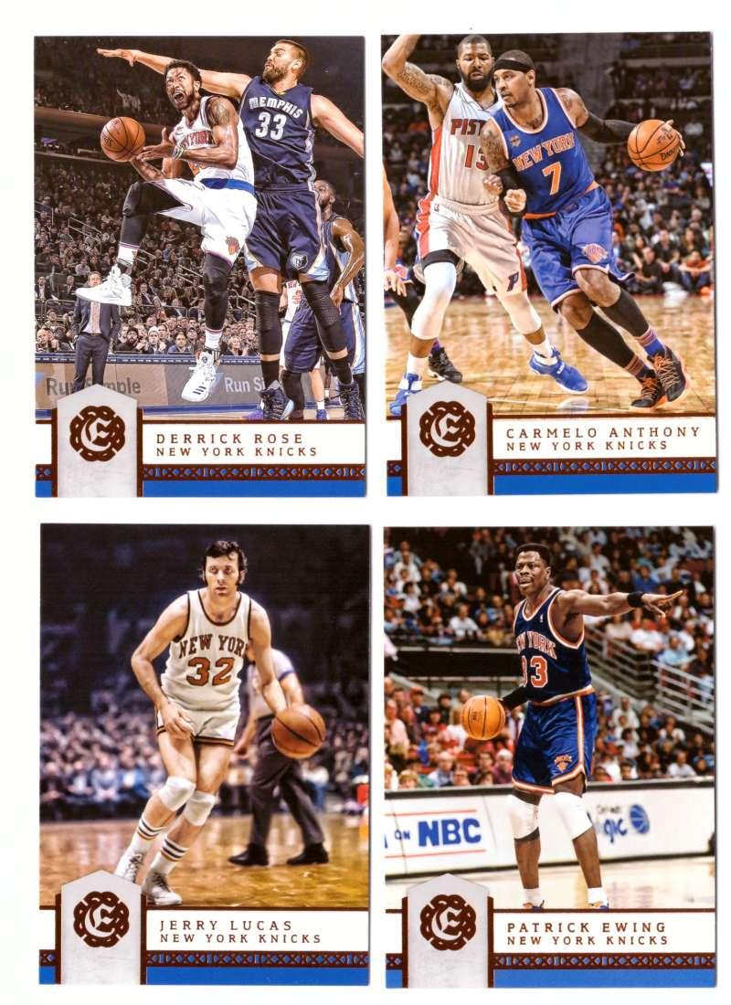 2016-17 Panini Excalibur Basketball Team Set - New York Knicks