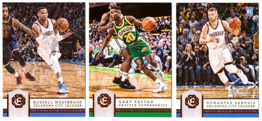 2016-17 Panini Excalibur Basketball Team Set - Oklahoma City Thunder (SuperSonics)