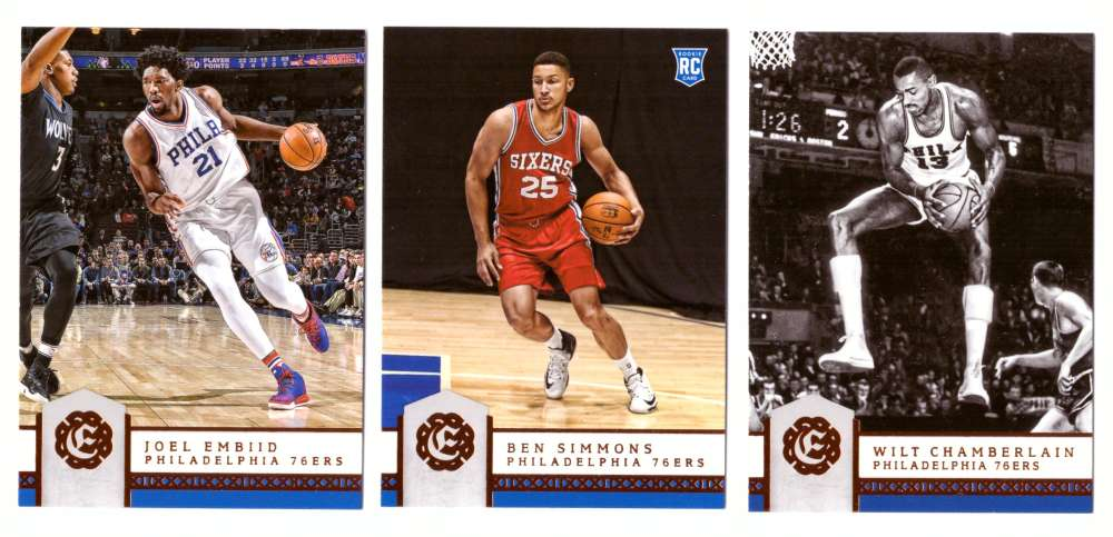 2016-17 Panini Excalibur Basketball Team Set - Philadelphia 76ers