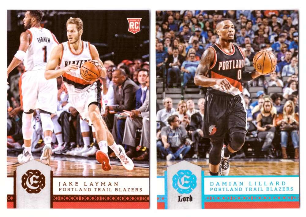 2016-17 Panini Excalibur Basketball Team Set - Portland Trail Blazers