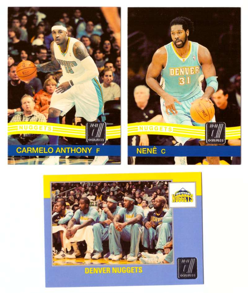 2010-11 Donruss Basketball Team Set - Denver Nuggets