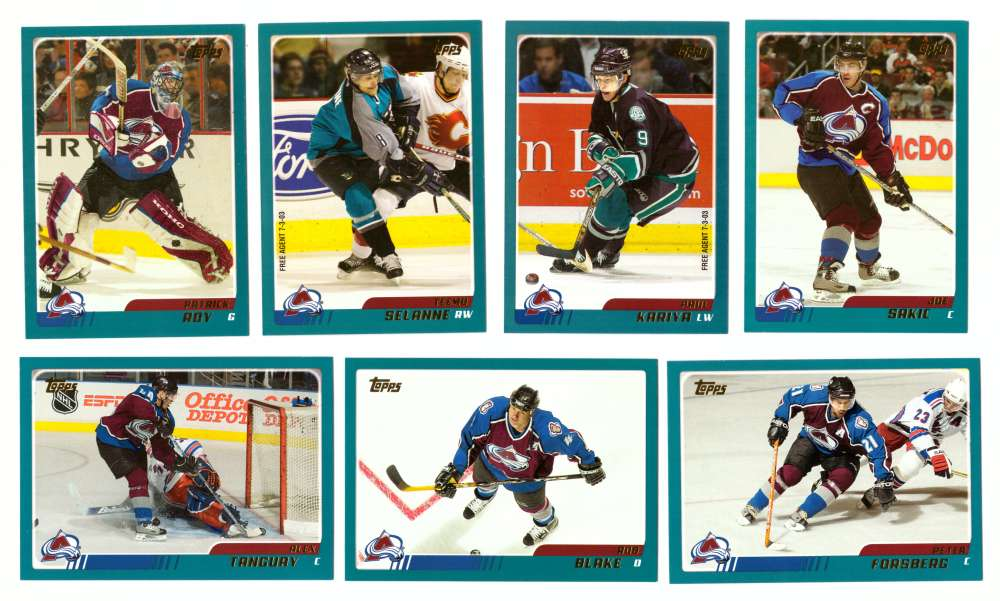 2003-04 Topps (1-330) Hockey Team Set - Colorado Avalanche
