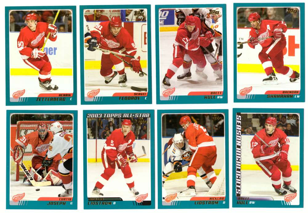 2003-04 Topps (1-330) Hockey Team Set - Detroit Red Wings