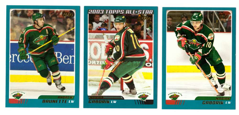 2003-04 Topps (1-330) Hockey Team Set - Minnesota Wild