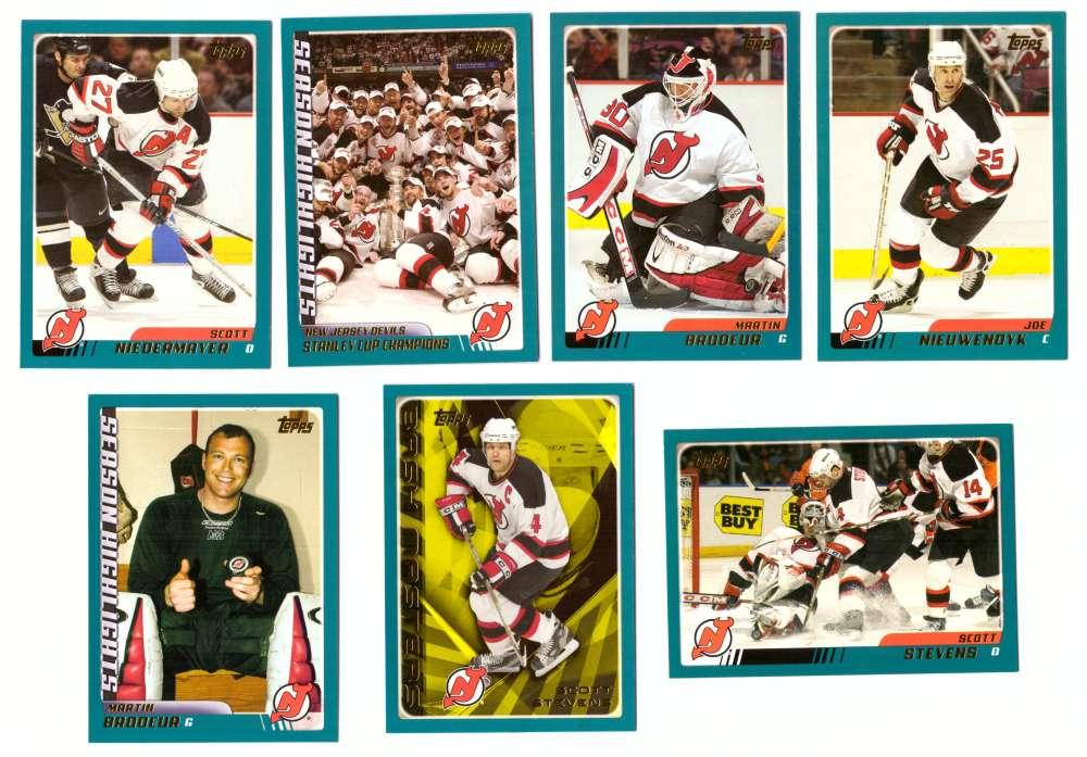 2003-04 Topps (1-330) Hockey Team Set - New Jersey Devils