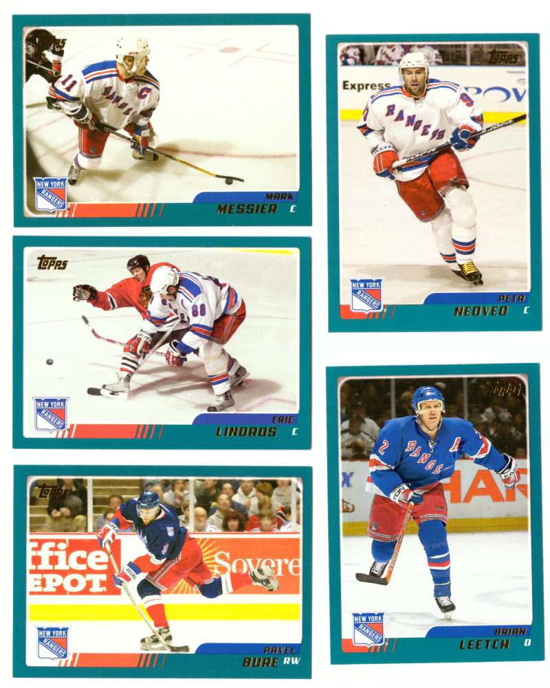 2003-04 Topps (1-330) Hockey Team Set - New York Rangers
