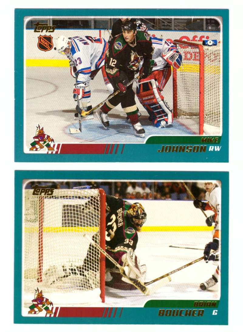 2003-04 Topps (1-330) Hockey Team Set - Phoenix Coyotes