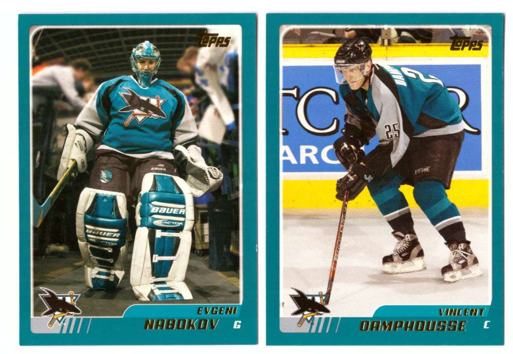 2003-04 Topps (1-330) Hockey Team Set - San Jose Sharks