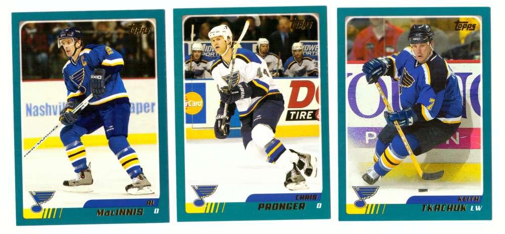 2003-04 Topps (1-330) Hockey Team Set - St. Louis Blues
