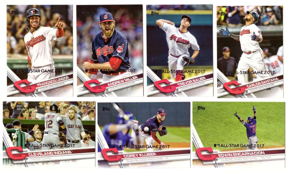 2017 Topps All-Star Game Silver - CLEVELAND INDIANS Team Set