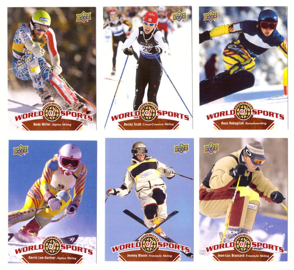 2010 Upper Deck World of Sports - Skiing 6 cards