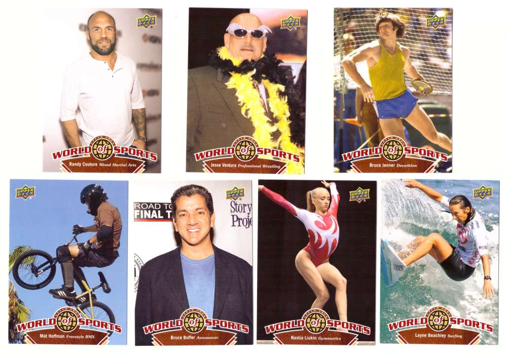 2010 Upper Deck World of Sports - Other Sports Figures 7 cards