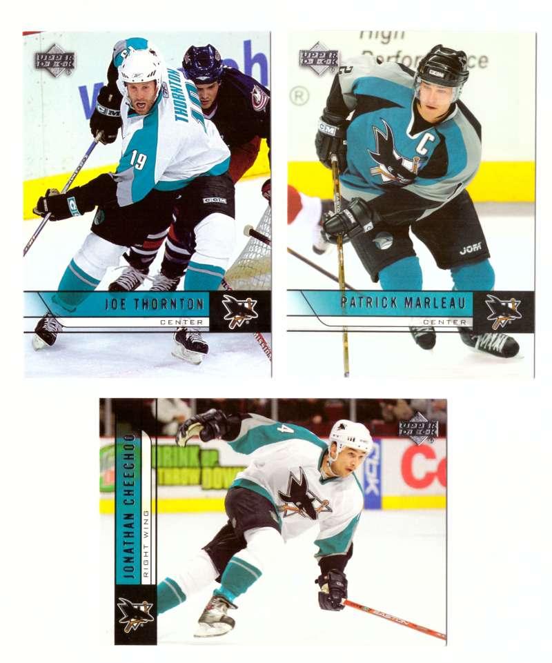 2006-07 Upper Deck (Base) Hockey Team Set - San Jose Sharks