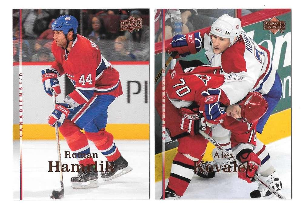 2007-08 Upper Deck (Base) Hockey Team Set - Montreal Canadiens