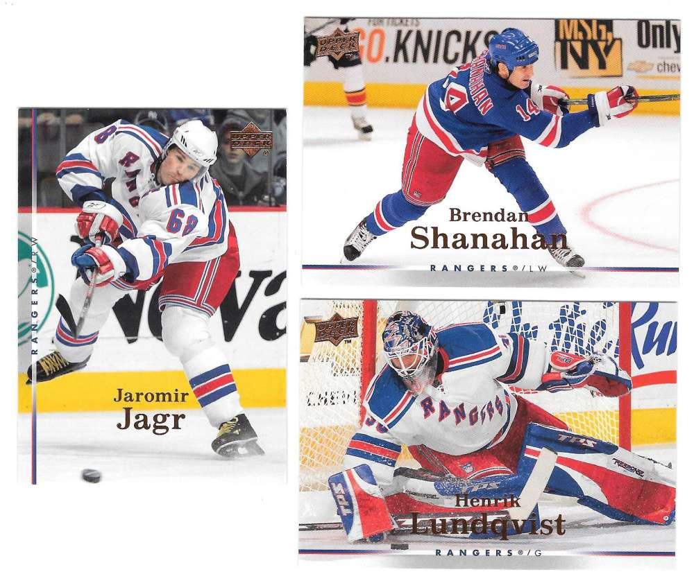 2007-08 Upper Deck (Base) Hockey Team Set - New York Rangers