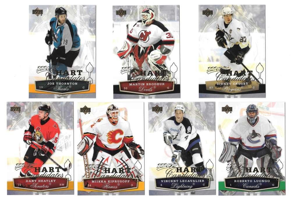 2007-08 Upper Deck MVP Hockey Hart Candidates 7 card set