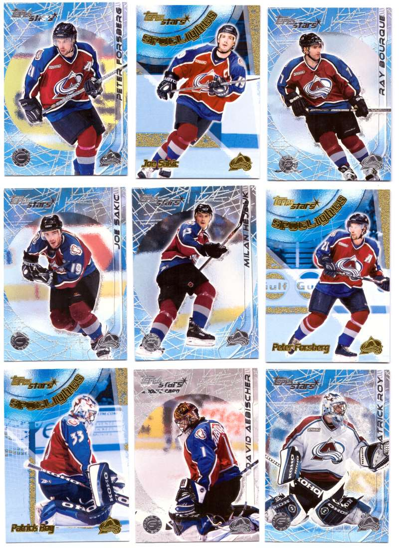 2000-01 Topps Stars Hockey - Colorado Avalanche