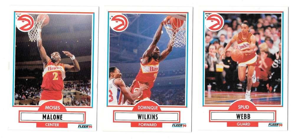 1990-91 Fleer Basketball Team Set - Atlanta Hawks