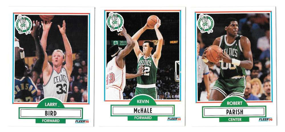 1990-91 Fleer Basketball Team Set - Boston Celtics