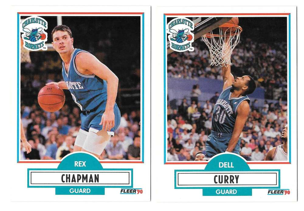 1990-91 Fleer Basketball Team Set - Charlotte Hornets