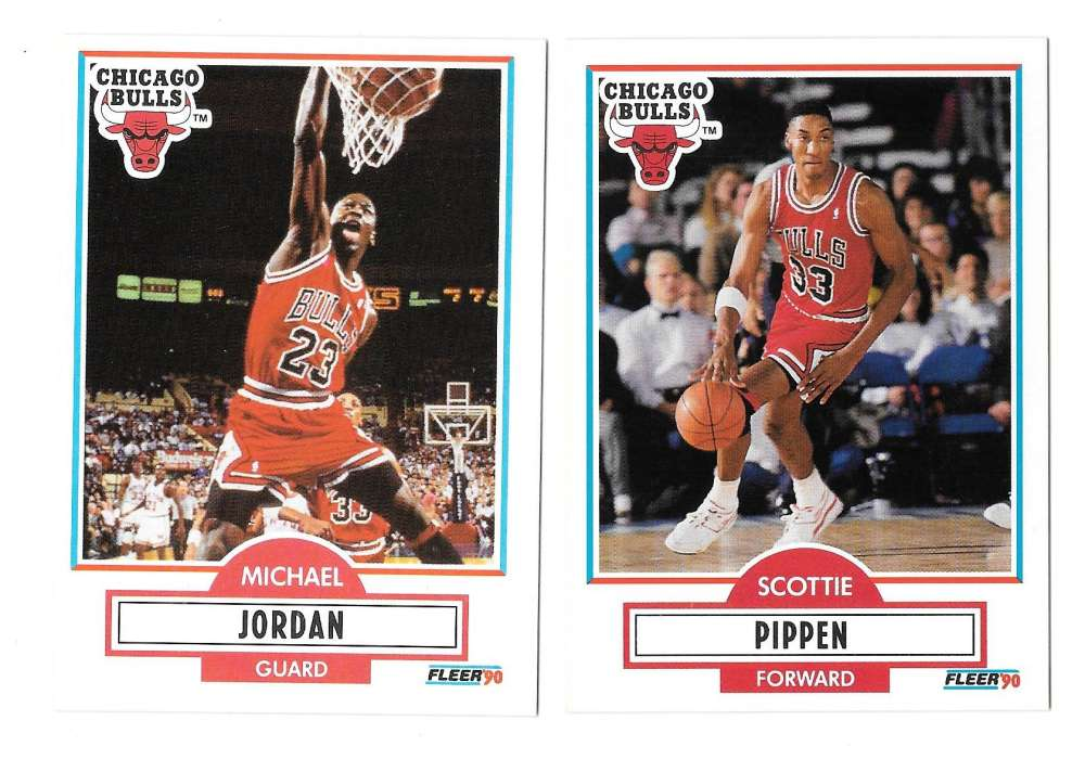 1990-91 Fleer Basketball Team Set - Chicago Bulls