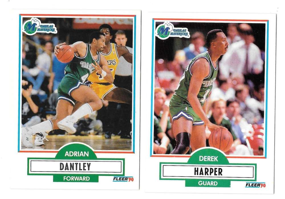 1990-91 Fleer Basketball Team Set - Dallas Mavericks