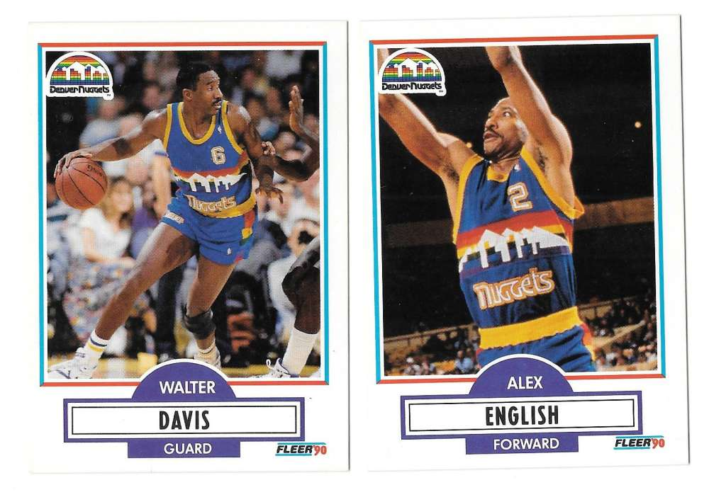1990-91 Fleer Basketball Team Set - Denver Nuggets