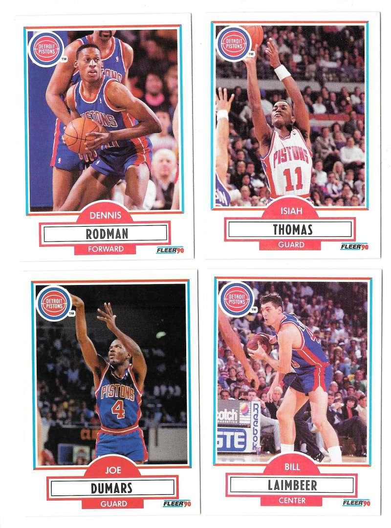 1990-91 Fleer Basketball Team Set - Detroit Pistons