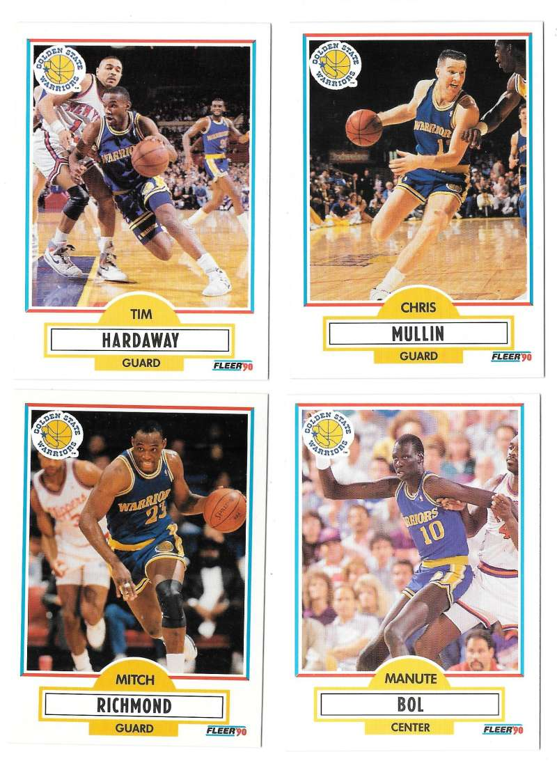 1990-91 Fleer Basketball Team Set - Golden State Warriors