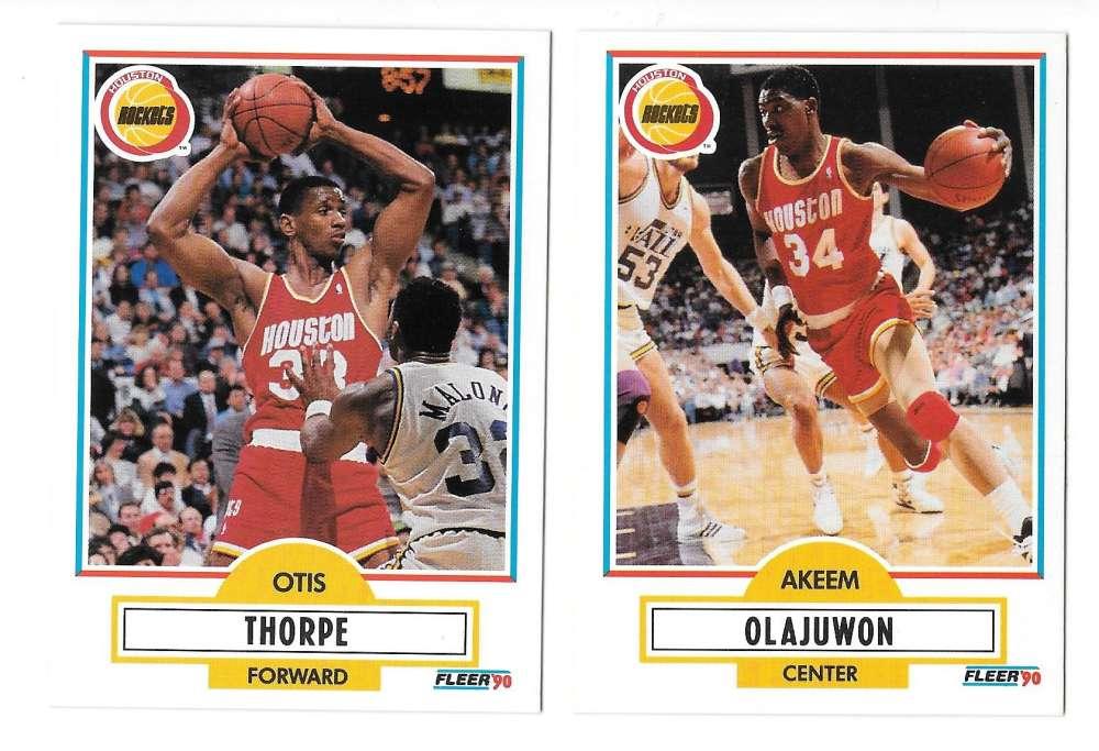 1990-91 Fleer Basketball Team Set - Houston Rockets